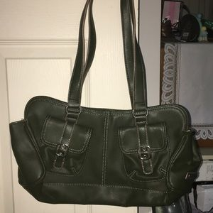 Nine West green leather purse